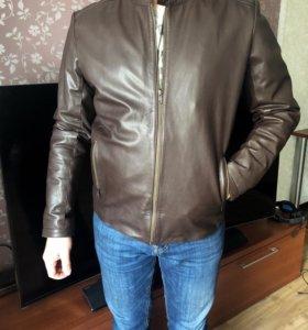 Мужская кожаная куртка asos асос