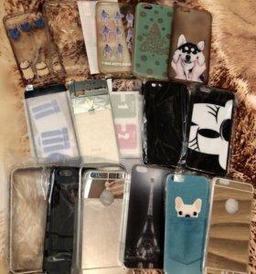 Продам чехлы и стёкла на iPhone 6, 6s