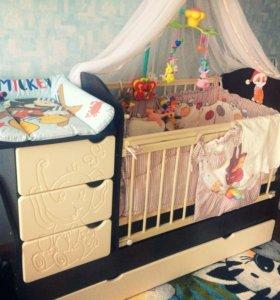 Детская кровать-трансформер и все к ней