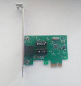 Сетевой адаптер PCI-E 10/100/1000 Мбит/с