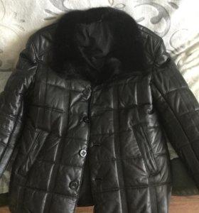Куртка кожаная мужская 52 р