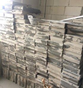 Блоки пазогребневые силикатные 7х25х50 см б/у