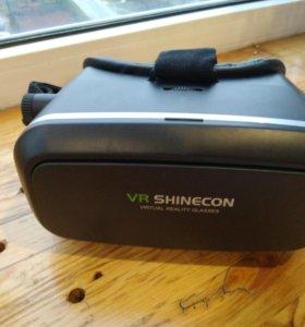 Очки виртуальной реальности и джойстик
