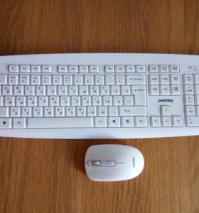 Комплект клавиатура+мышь Smartbuy (белая)