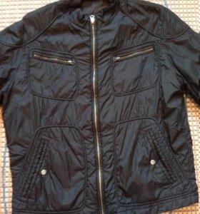Облегченная куртка черная болоневая мужская р.50