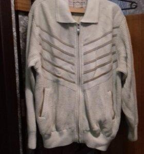 Куртка мужская трикотаж плотный на подкладке