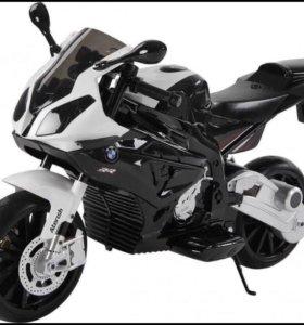 Детский электромотоцикл BMW S1000PR Black 12V