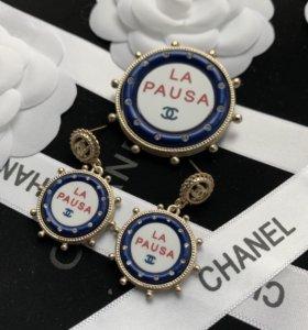 Брошь и серьги Chanel