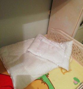 Набор подушка+одеяло в кроватку для новорождённых