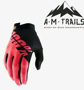 Велосипедные перчатки 100%