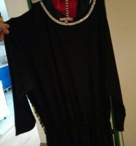 Чёрное платье 46-48р бесплатно