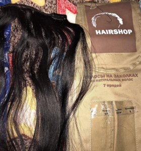 Натуральные Волосы на заколках 4.0