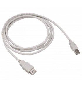 Новый Удлинитель USB2.0 1.8м, серый (в упаковке)