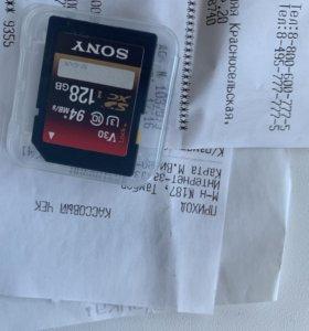 Sony 128gb UHS-I U3 95мб/с на гарантии