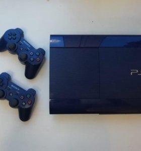 PlayStation 3, Редкий синий цвет+20 игр
