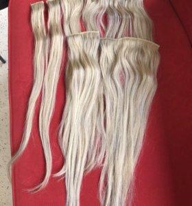 Натуральные волосы,на заколках ,словянка