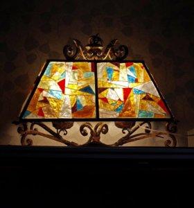 Люстра: муранское стекло, бронза (Италия)