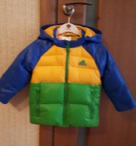 Куртка-пуховик Adidas оригинал. Рост 92см.