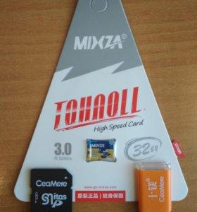 Новая microSD MIXZA Class10 (32гига)