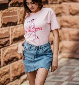 Модная джинсовая юбочка и футболка