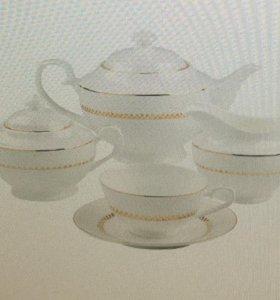 Новый шикарный чайный набор(костяной фарфор)