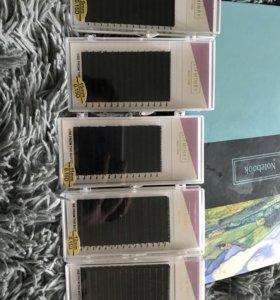 Ресницы для наращивания 0.15D. Комплектом