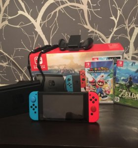 Nintendo Switch 32 Gb (+ 4 игры)