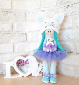 Текстильная кукла Тильда ручной работы