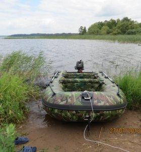 Лодка пвх Gladiator-370 с мотором Suzuki DF-6