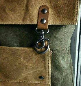 Новый рюкзак со вставками из натуральной кожи