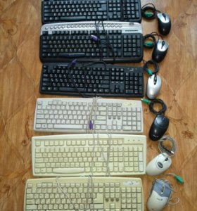Клавиатуры и мыши.