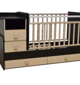Кровать детская «Ульяна-4» + бортики, матрас.