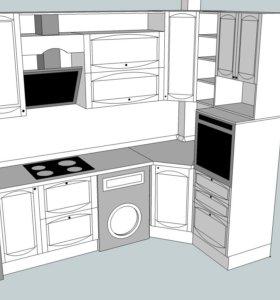 Проектирование мебели в 3D программе.
