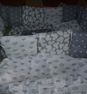 комплект в кроватку - ручная работа