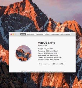Apple iMac 27, середина 2010, i3, 12gb, 1tb, 512mb