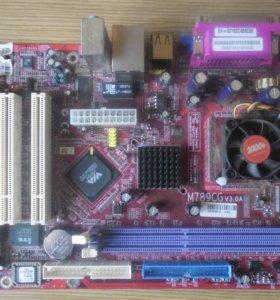 Материнская плата + процессор в подарок