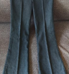 Утеплённые брюки-клеш