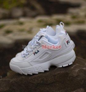 Кроссовки FIla disraptor 2 (Белые)