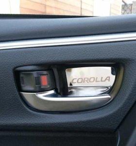 Молдинги ручек дверей Toyota Corolla 2013-2018г.в.