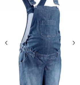 джинсовый полукомбинезон