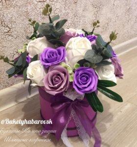 Цветы на мыльной основе. Розы, пионы...