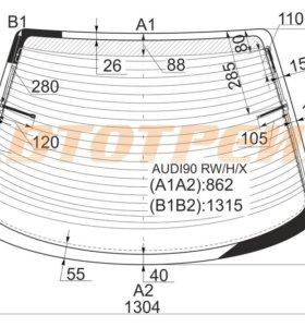 Стекло заднее с обогревом в клей AUDI 80 B4 91-96 4D