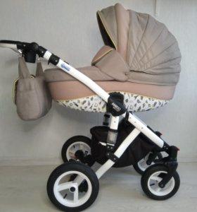 Коляска bebe-mobile mario 2 в 1 +автолюлька