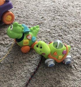 Музыкальные игрушки черепаха и дракоша