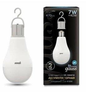 Лампа Gauss со встроенным аккумулятором