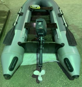 Лодка ПВХ Аллигатор с мотором Yamaha 2л/с