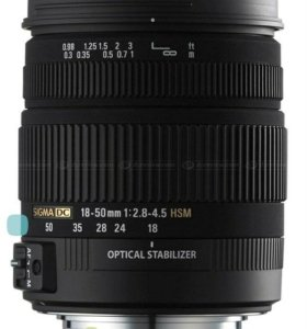 Объектив Sigma 18-50 2.8 macro для Canon