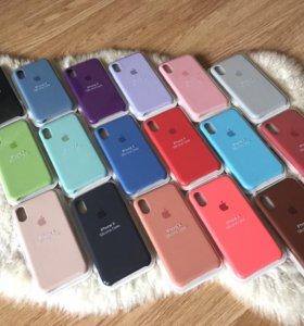 Apple Silicone Case для iPhone X новые