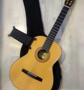 Гитара, чехол и подножка