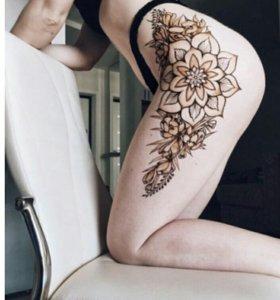 Временное тату. Роспись по телу натуральной хной.